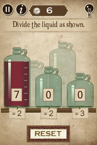Divide the liquid as shown