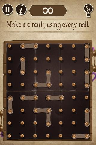 Make a circuit using every nail