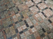 Medieval floor tiles in Winchester Cathedral