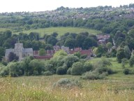 Winchester with view of Saint Cross Hospital