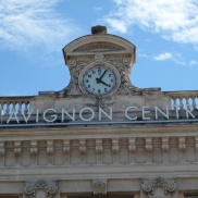 Our arrival in Avignon at 4.05pm