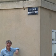 Roy (Dr B) in the Avenue Baron le Roy