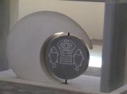 Detail of church altar in La Roque sur Cèze
