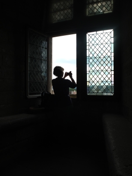 Me taking a photo from inside the Palais du Pape
