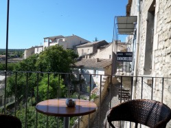 View from a balcony café in Gordes