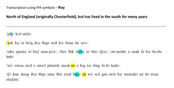Transcription - Roy