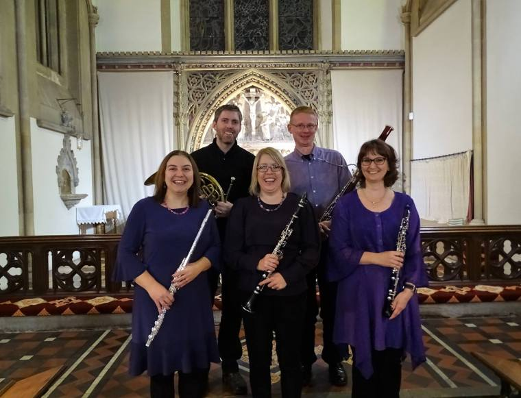 Whiteknights Ensemble before inaugural concert 18-11-17