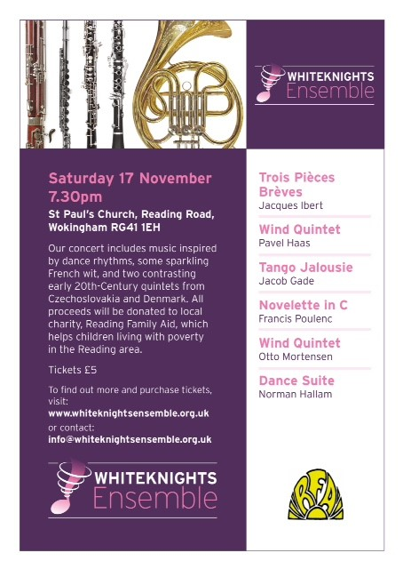 Flyer for 17 November 2018 concert
